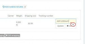 PrestaShop 1.6.x. How to add a courier tracking number to your customer's order4