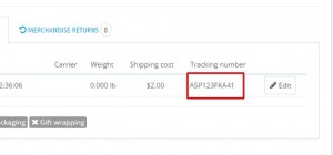 PrestaShop 1.6.x. How to add a courier tracking number to your customer's order5