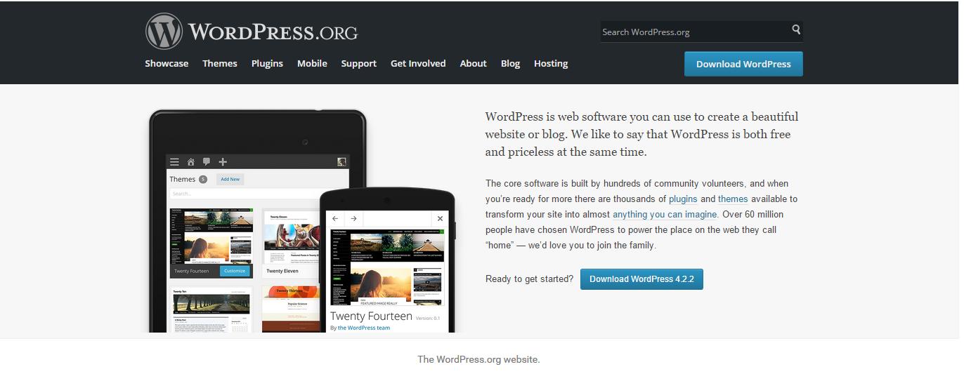 Как сделать сайт а не блог wordpress на