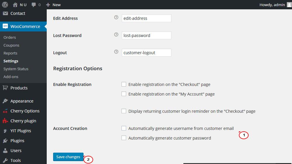 WooCommerce. Wie man mit Registrierungsoptionen arbeitet - Hilfe von ...