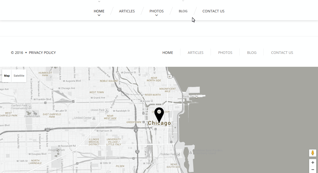 CherryFramework 4 How to change Google map location on Home page