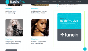 JS Animated. How to change Name of Radio station banner and link it to favorite Radio Station -1