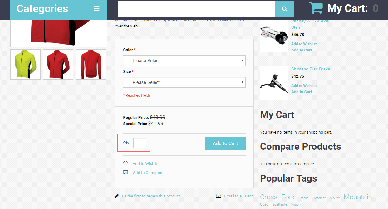 Magento  How to remove quantity box on product details page