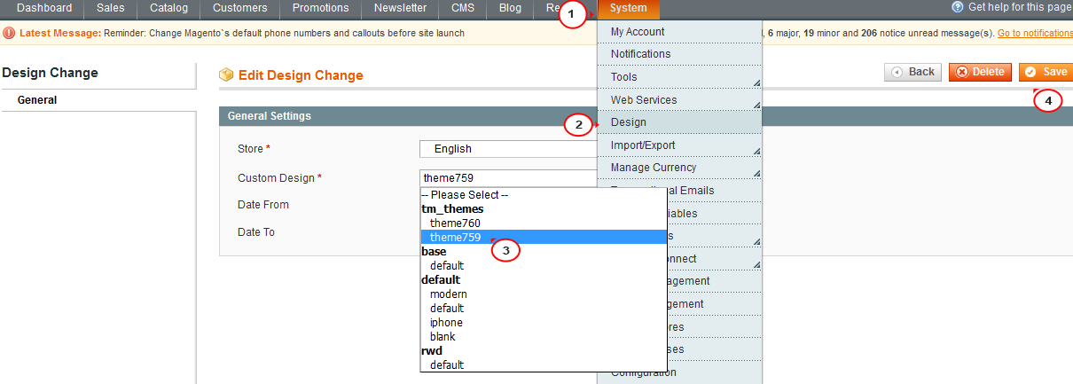 Magento How Install A Template Over Existing Store Without Sql