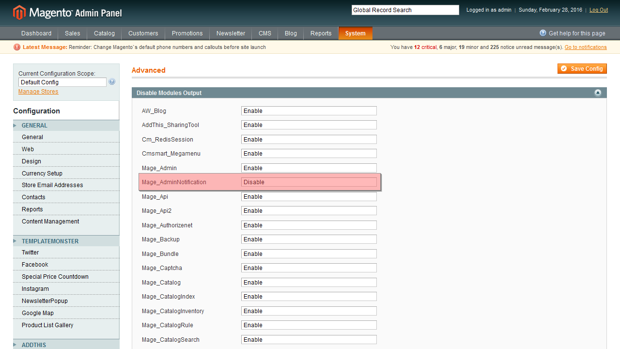 how to open magento admin panel in localhost