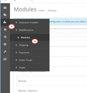 OpenCart 2.x. How to manage TM Module Tabs module1