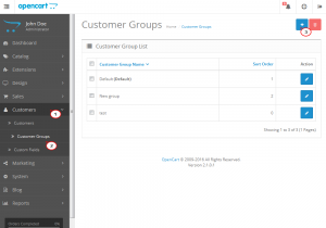 Opencart 2.x. How to add and manage customer groups-1