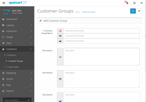 Opencart 2.x. How to add and manage customer groups-2