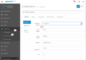 Opencart 2.x. How to add and manage customer groups-3