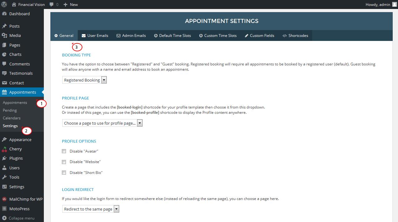 WordPress.Wie man mit Terminen arbeitet (basierend auf dem Booked ...
