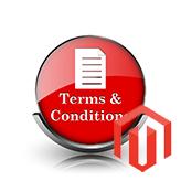 """Magento. Wie man die Bedingung """"Nutzungsbedingungen"""" und das Kontrollkästchen zur Seite Zur Kasse hinzufügt"""