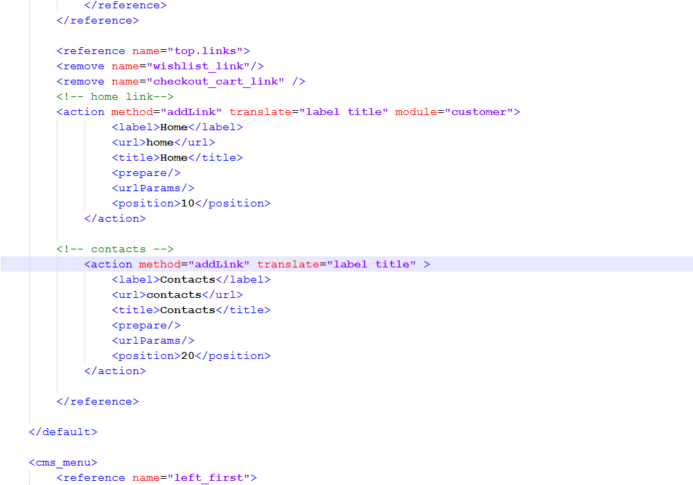 Magento how to edit header links template monster help magentohowtoedittopheaderlinks2 ccuart Gallery
