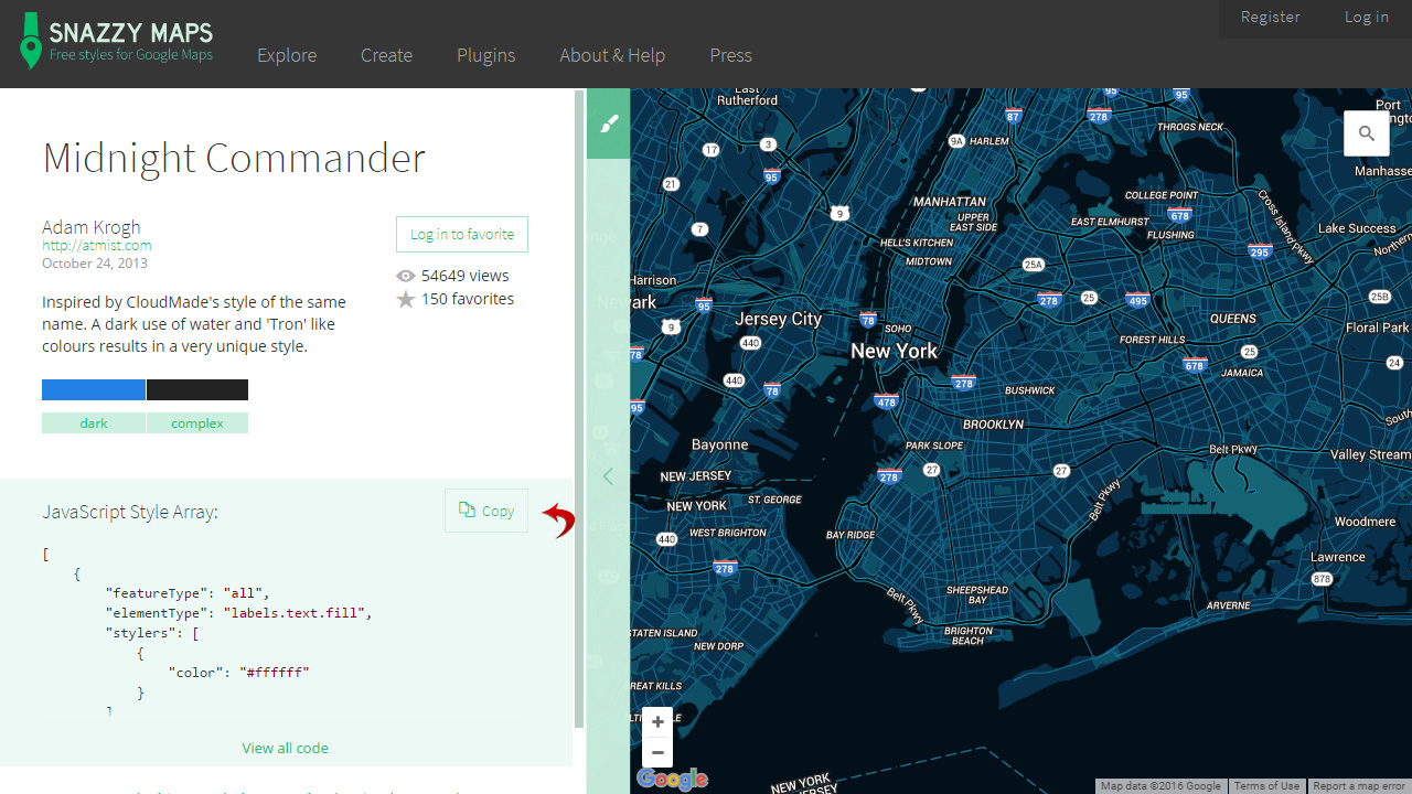 CherryFramework How To Apply Google Map Custom Style Template - Style a google map