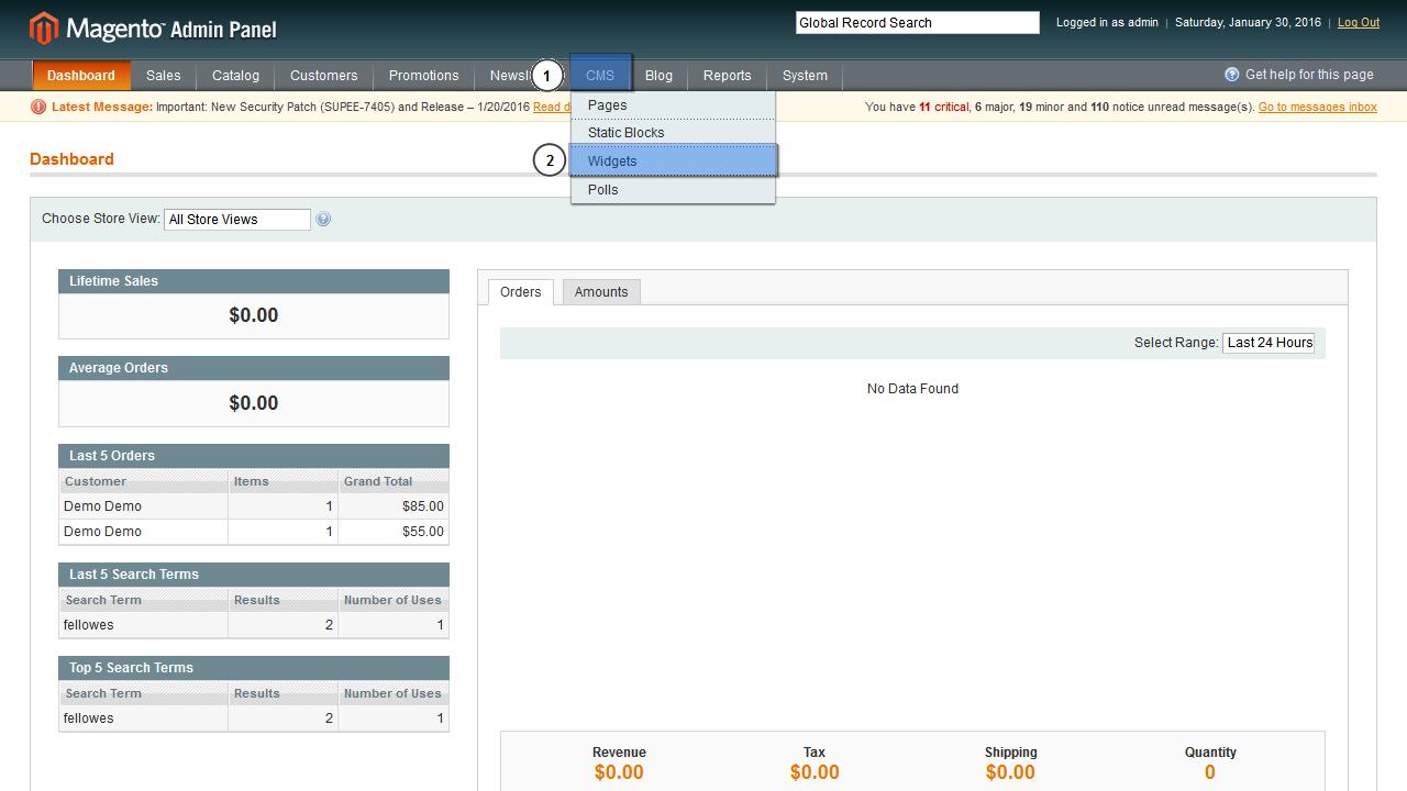 admin home page templates - magento wie man die blog sektion von der startseite