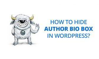 How to Hide 'Author Bio' Box in WordPress?