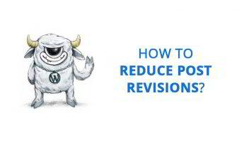 How to Reduce Post Revisions in WordPress Website?