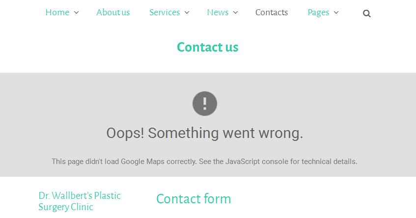 CherryFramework 3 Troubleshooter Google Maps do not show up API
