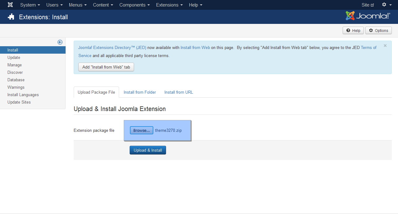 How to upload a template in joomla choice image for How to upload a template in joomla