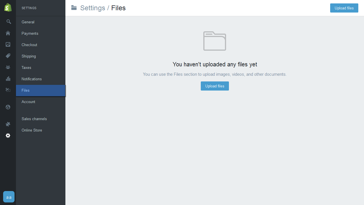 Shopify  How to upload files as a bulk action - Template
