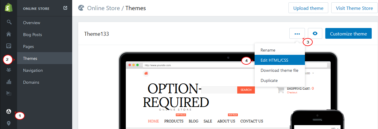 Shopify  How to change the number of columns on collection