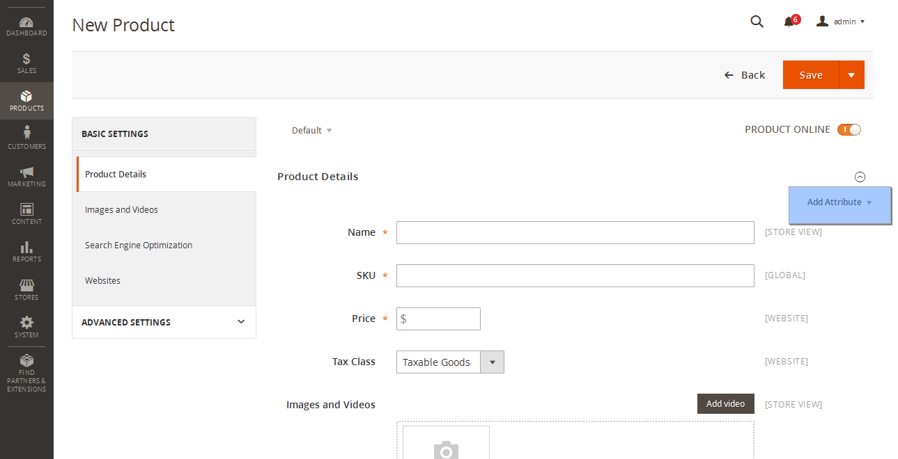 Magento 2 x  How to create and manage product attributes - Template