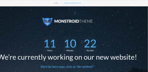 Monstroid_how_to_manage_Countdown_timer_on_default_Maitenance_page-3