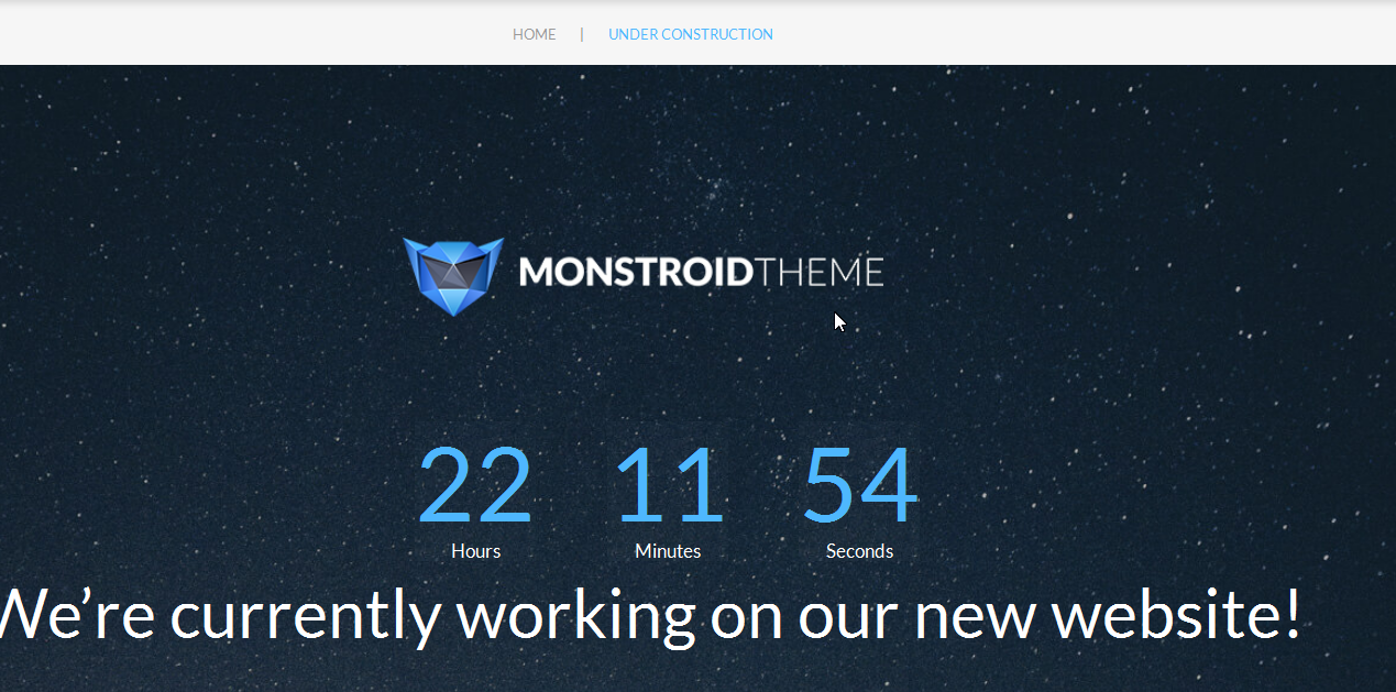 monstroid_how_to_manage_countdown_timer_on_default_maitenance_page 5