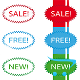 OpenCart 2.x. Edit Sale/New labels text