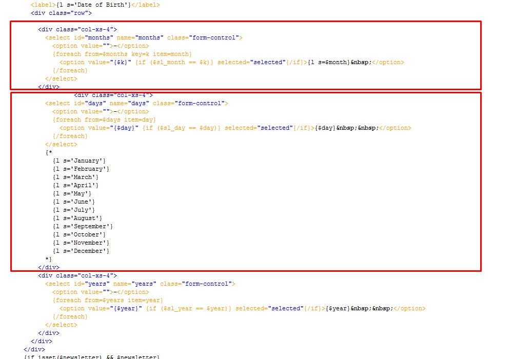 PrestaShop 1 6 x  How to change date format in customer
