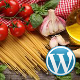 WordPress Blogging themes. How to manage dishes ingredients
