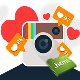JS Animated. How to add Instagram widget