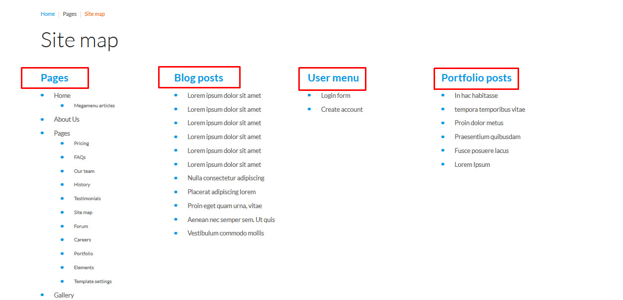 Joomla 3.x. How To Manage Sitemap Page