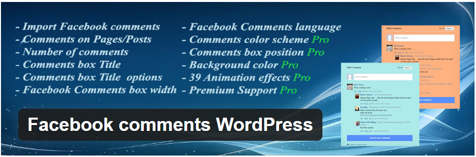 2. Facebook Comments WordPress