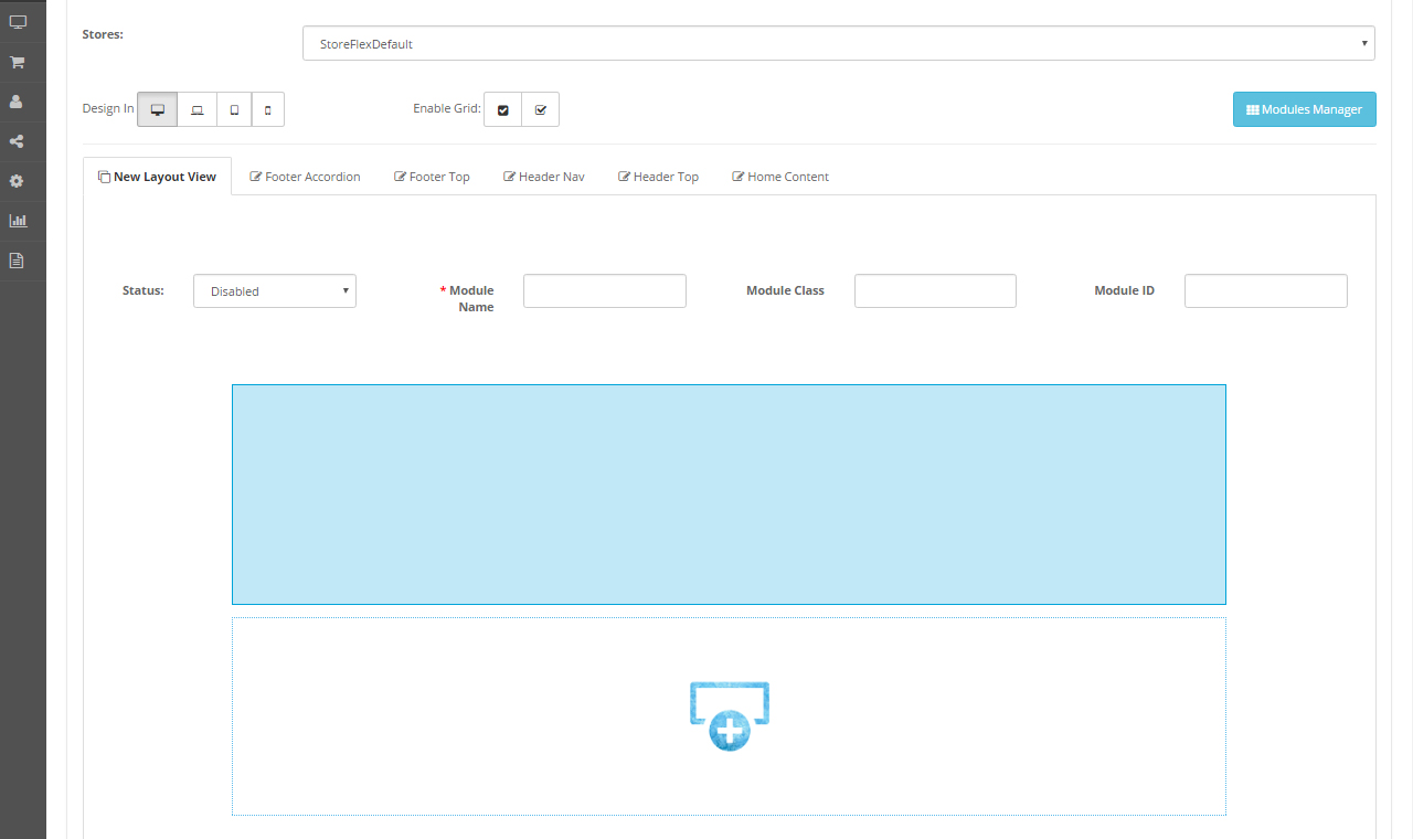 Opencart 2 x tm layout builder for Opencart template builder