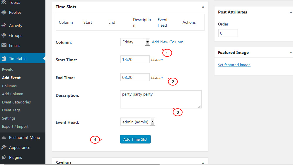 Monstroid2. How to manage events with the help of 'Timetable and Event Schedule' plugin2