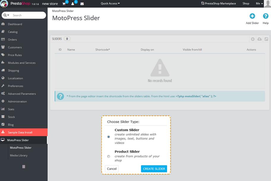 PrestaShop 1 6 x  How to manage 'TM MotoPress Slider' module