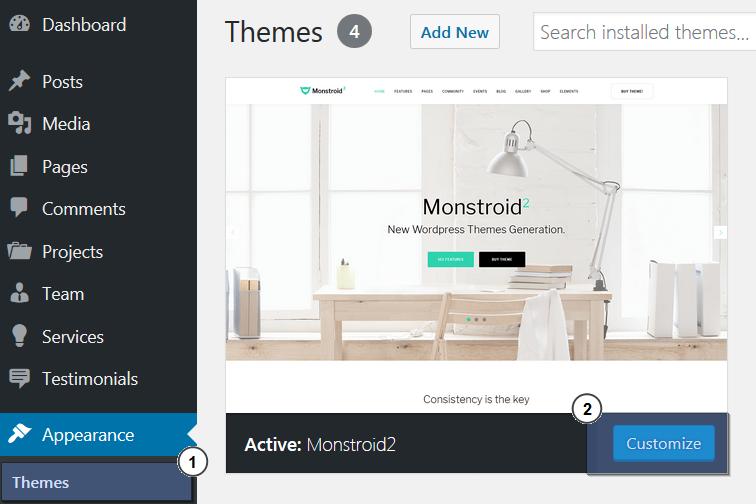 Monstroid 2. Actualización Manual del tema principal - Centro de ...