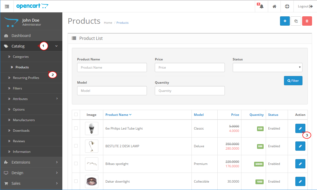 opencart template editor - opencart 2 how to add multiple product images template