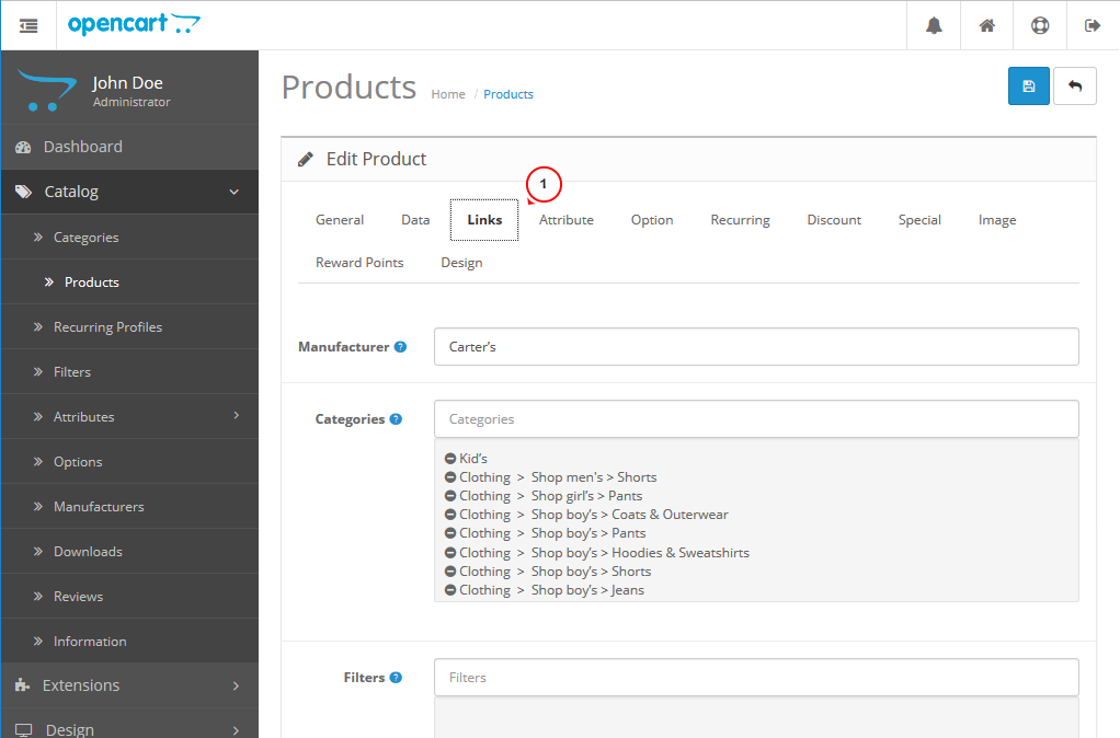 OpenCart 2._How_to_manage_related_products_2