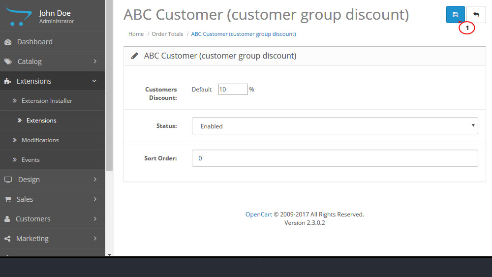 OpenCart 2.x. How to work with TM ABC Customers module-2