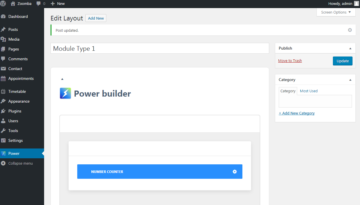 WordPress Blogging themes. How to use Power Builder Library-11