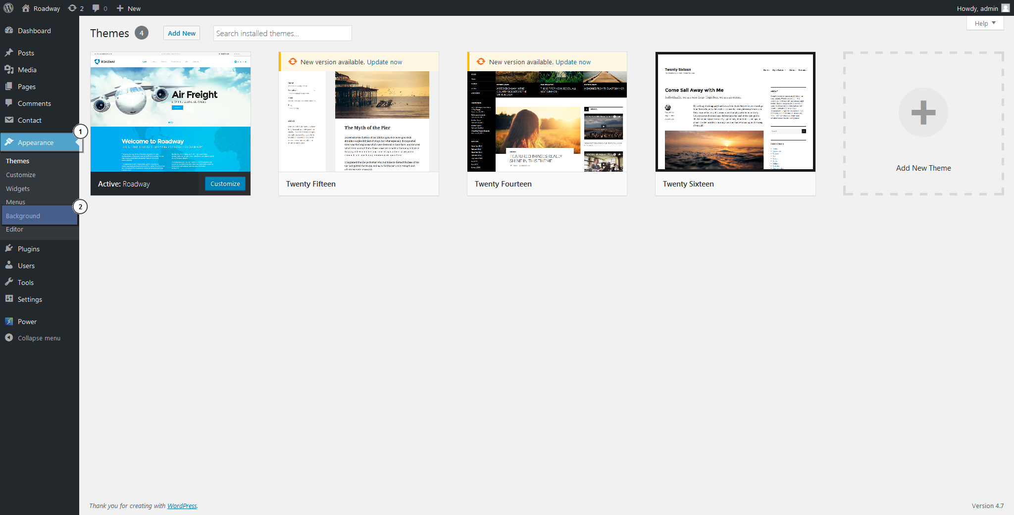 how to change background image in wordpress theme