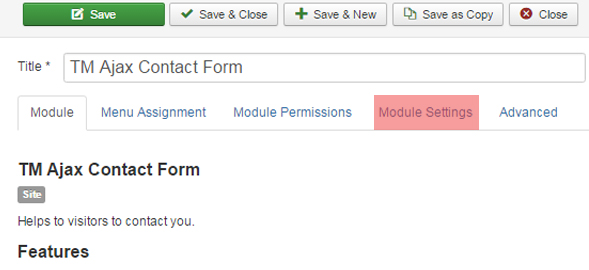Joomla 3.x. How to manage TM Ajax Contact Form module_2