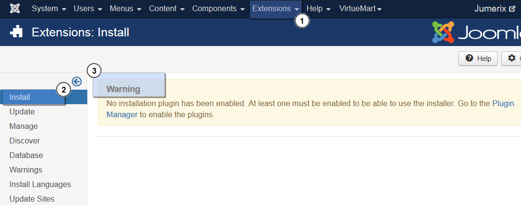 Joomla_3_Troubleshooter_How_to_deal_with_No_installation_plugin_has_been_enabled_1