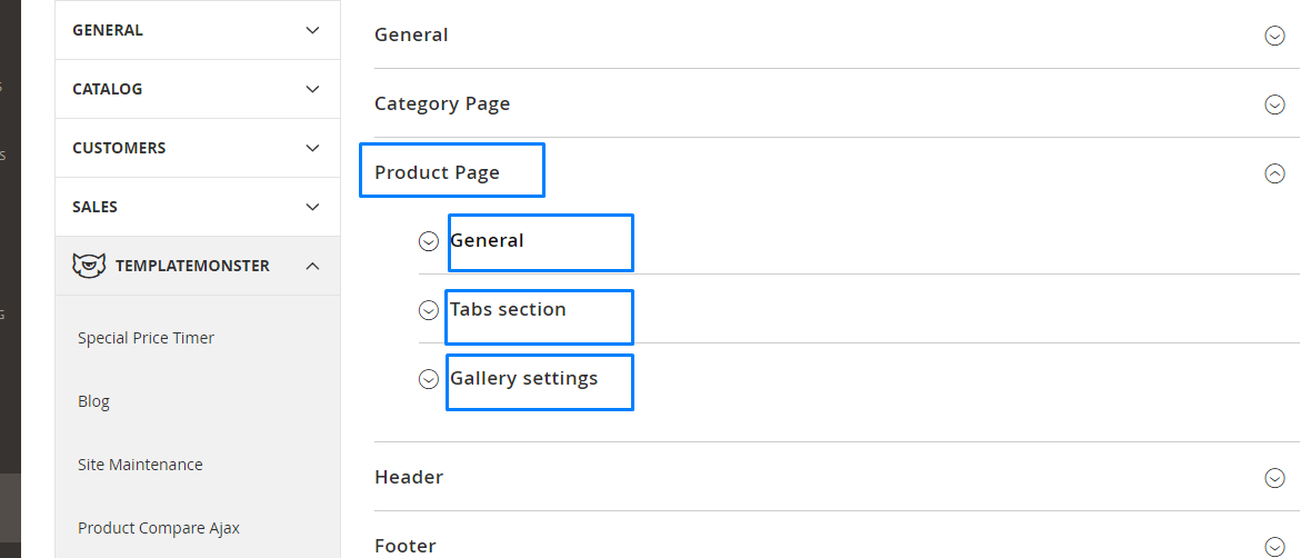 Magento 2. How to manage product page settings4
