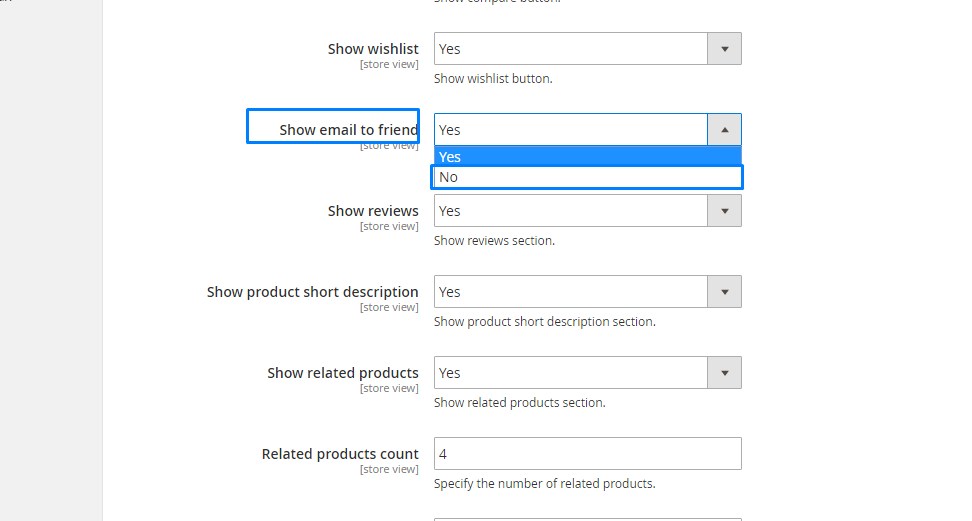 Magento 2. How to manage product page settings5
