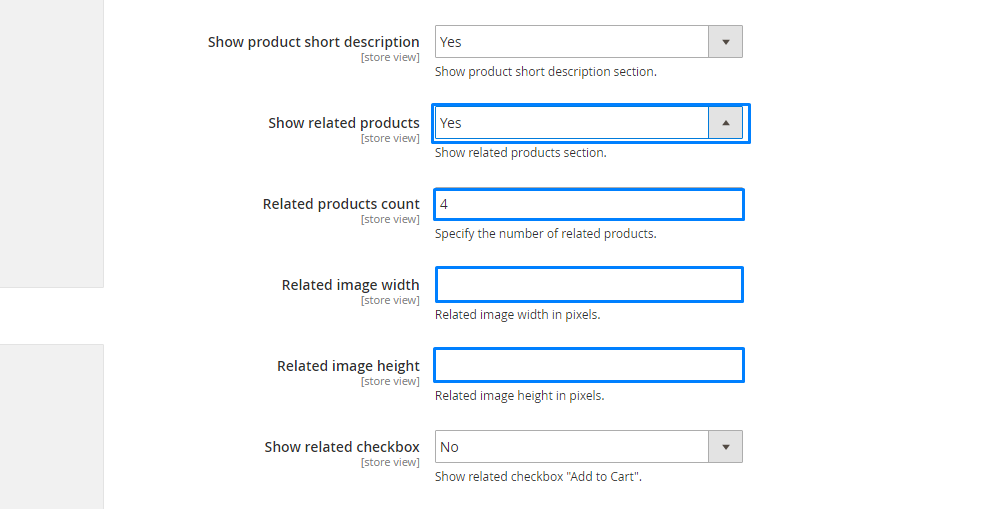 Magento 2. How to manage product page settings6