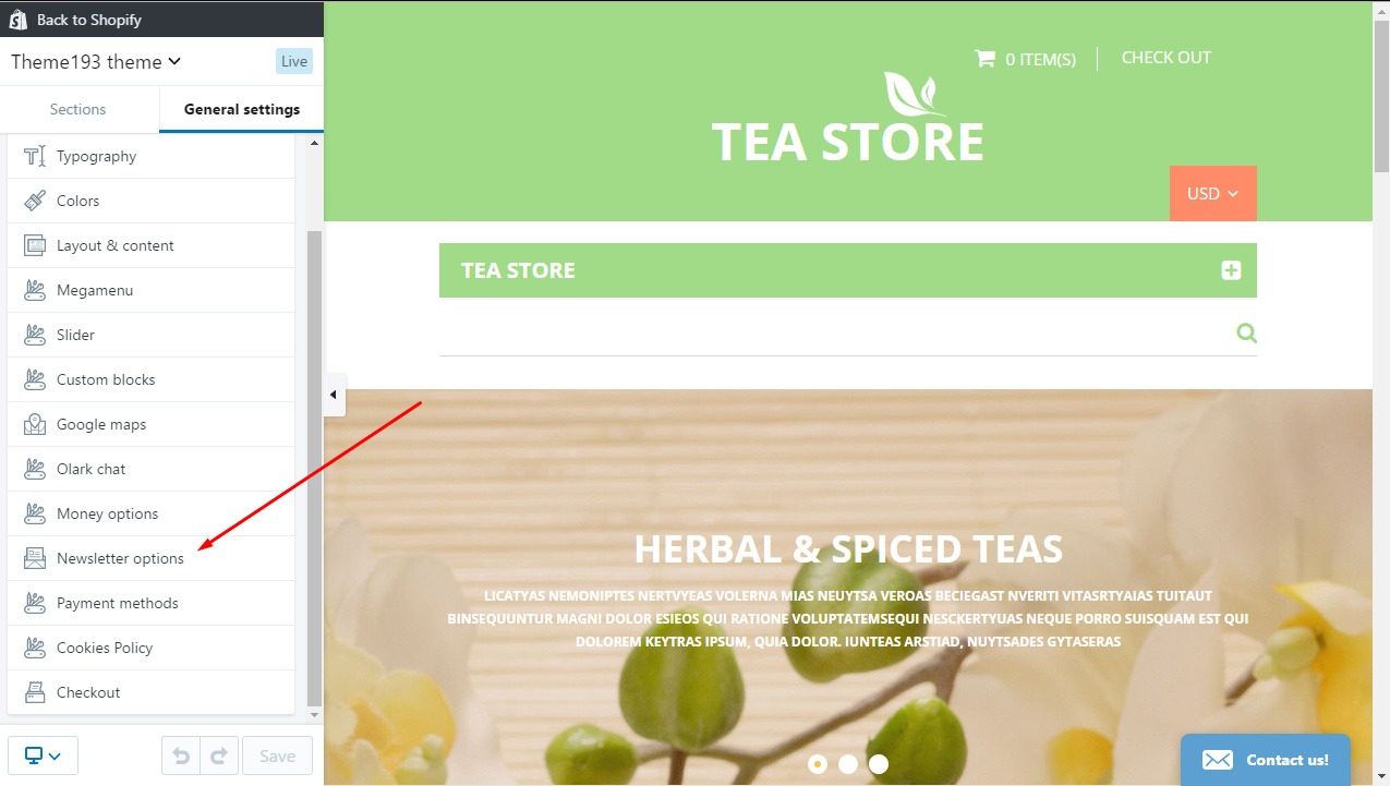 Shopify  How to change the newsletter popup content