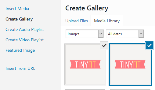 How to display WordPress images in columns and rows
