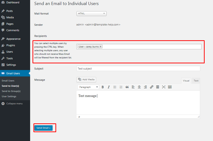 How to send emails to all registered users in WordPress